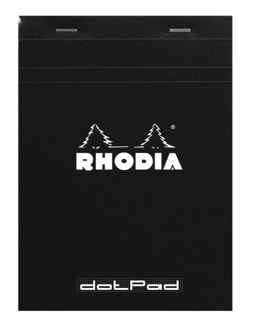 Rhodia Dot Grid Notepad Black