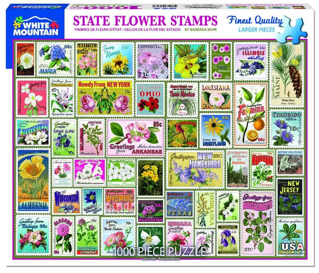 State Flower Stamps